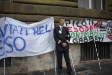 FAST Comparto Aereo: manifestazione Alitalia
